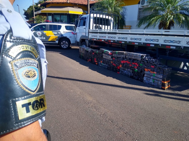TOR apreende mais de 800 quilos de maconha em Santa Cruz do Rio Pardo