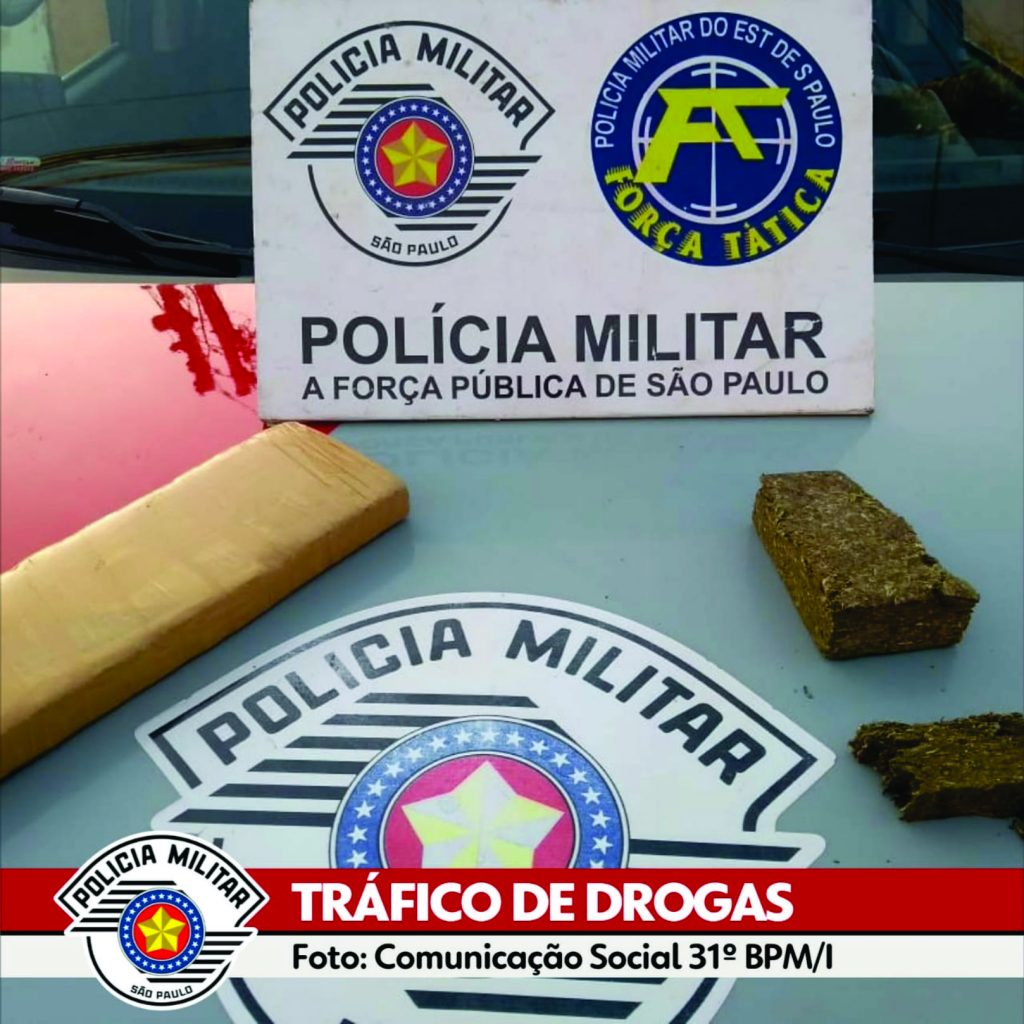 Policia Militar da 1ºCia do 31º BPM/I de Ourinhos, em menos de duas horas, tira das ruas mais 2 por tráfico.