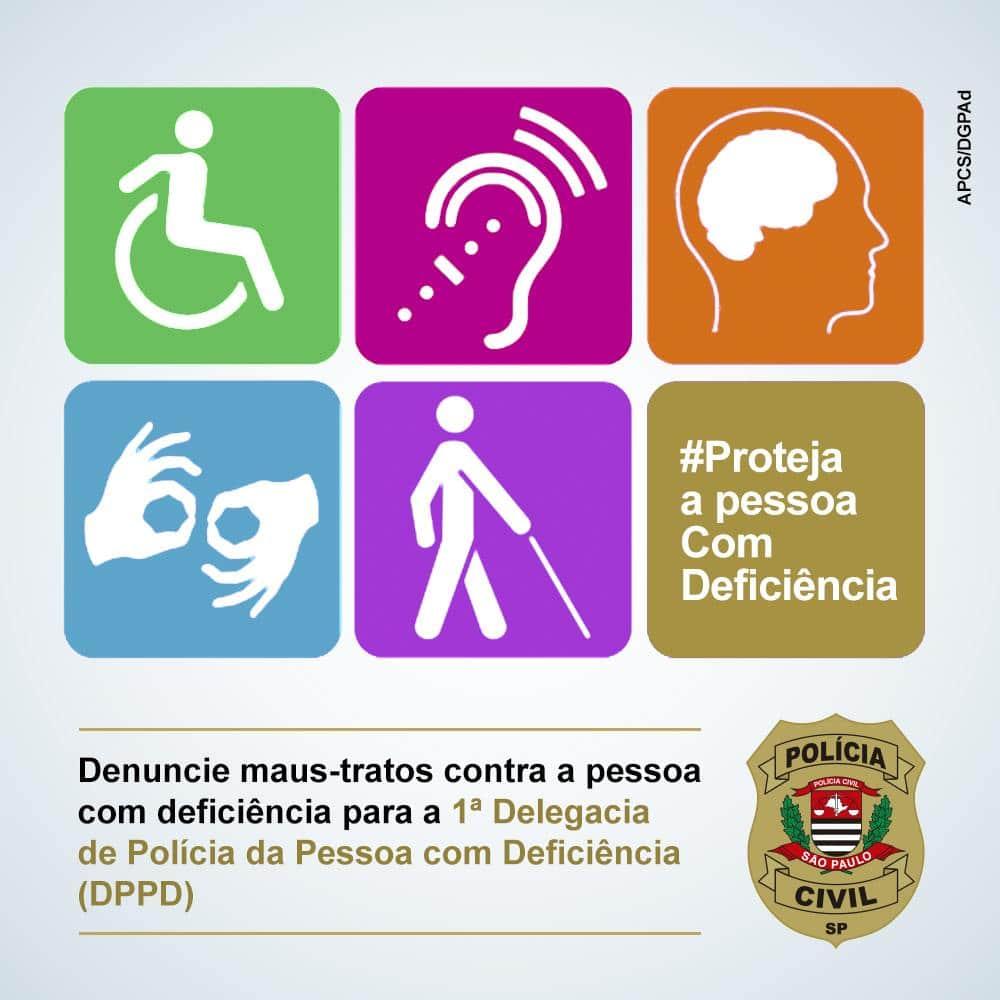 Capital de São Paulo conta com a 1ª Delegacia de Polícia da Pessoa com Deficiência (DPPD).