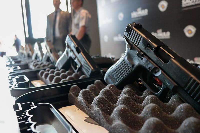Polícia Militar distribuí 50 mil pistolas para unidades operacionais em todo o Estado