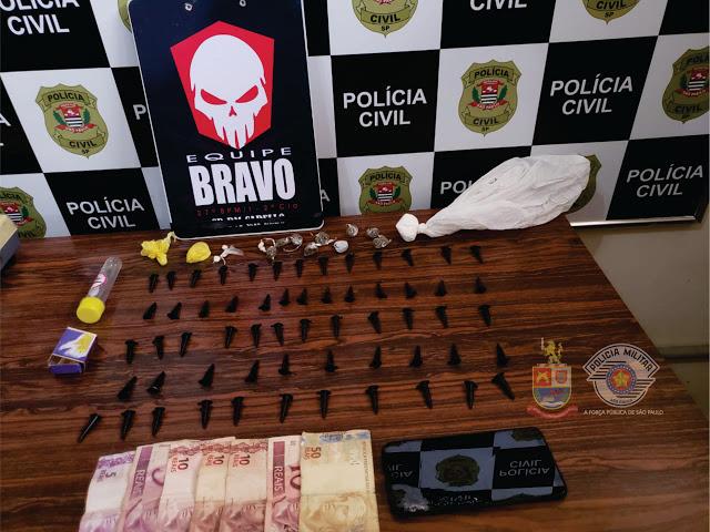Policia Militar de Igaraçu do Tietê prende três por tráfico
