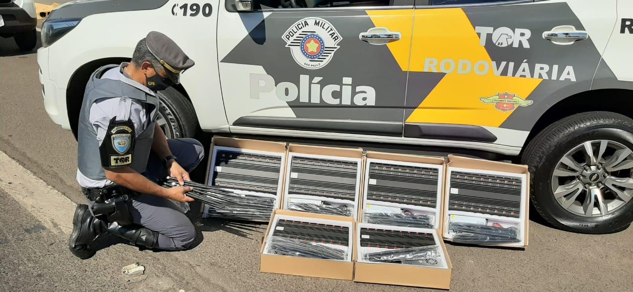 Polícia Rodoviária apreende seis bloqueadores de sinal de telefonia