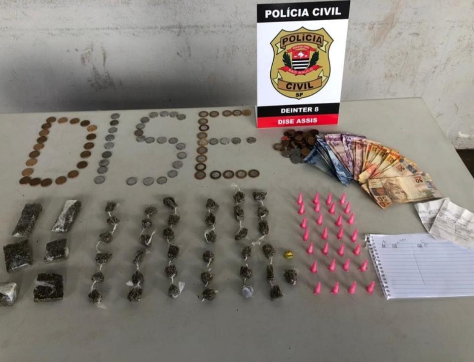 Dise de Assis detém dois por tráfico de drogas em Pedrinhas Paulista