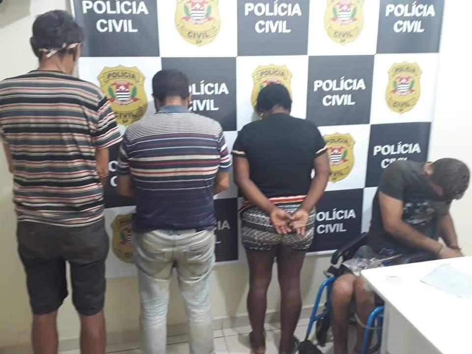 DIG de Avaré prende quatro suspeitos de latrocínio.
