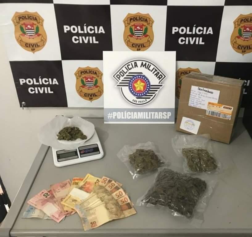 Operação conjunta entre Polícia Militar e Polícia Civil prendem indivíduos que usavam Correios para traficar drogas em São Manuel