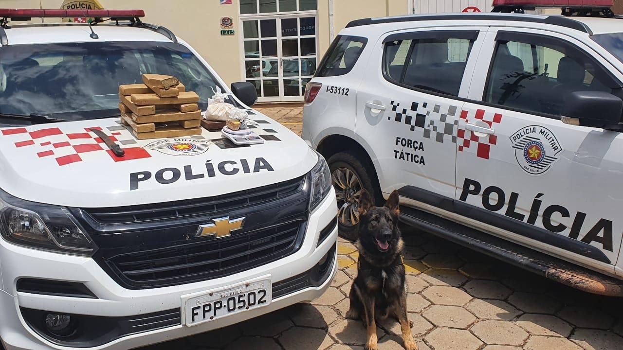 Polícia Militar de Avaré prende homem com mais de 10 Kg de drogas