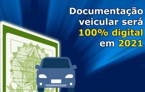 Documentação veicular será 100% digital neste ano