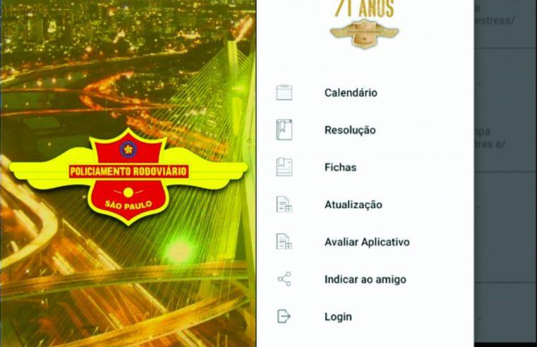 Comando de Policiamento Rodoviário desenvolve aplicativo para informações aos usuários de rodovias.