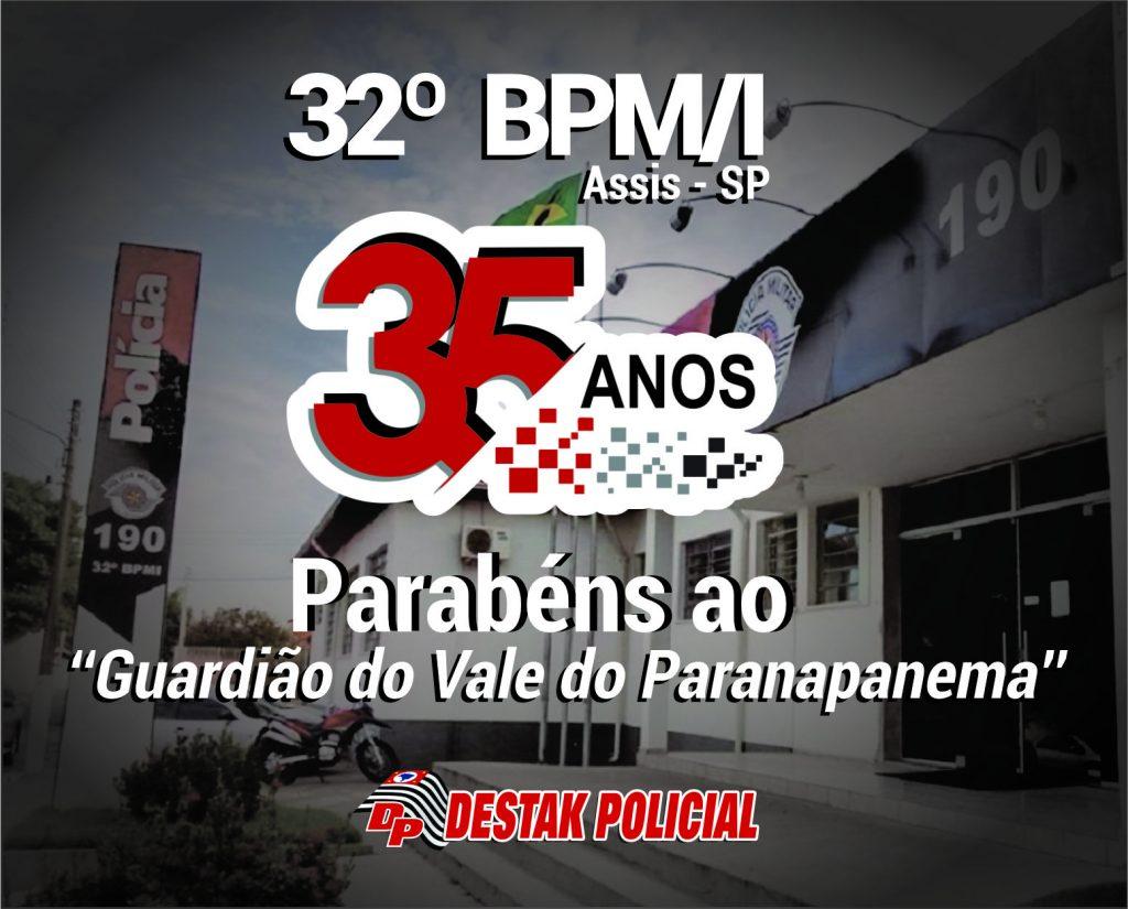 32º BPM/I – Assis, SP comemora 35 anos de sua história.