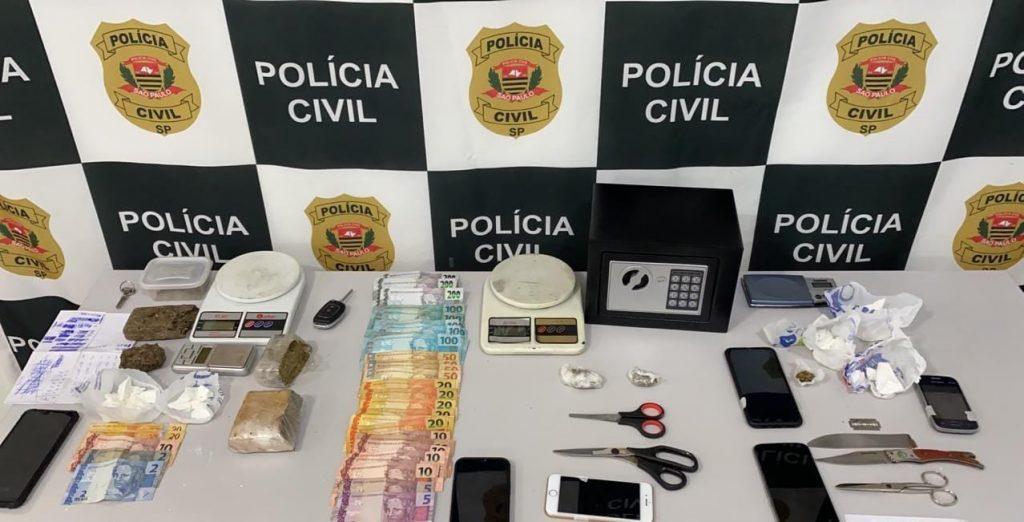 Operação conjunta entre policias Civil e Militar resulta em prisão de traficantes, drogas e dinheiro em Jaú