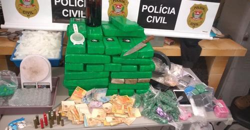 DISE de Botucatu apreende 51 quilos de maconha e 650 porções de drogas