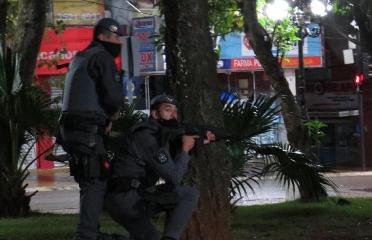 Polícia Militar de Itapeva em conjunto com o 14 Baep realiza exercício de prevenção à ataque as agências bancárias.